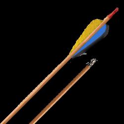 """Стрела лучная деревянная (натуральное оперение) 28"""""""